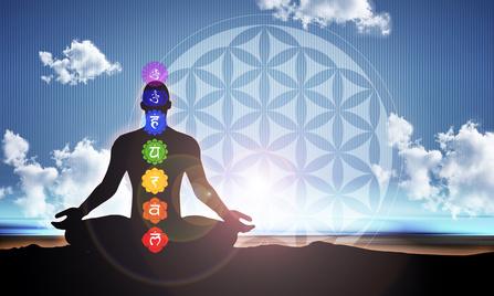 Meditation blue matrix